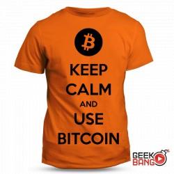 Tričko Keep calm, Bitcoin