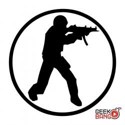 Triko Counter-Strike bílé