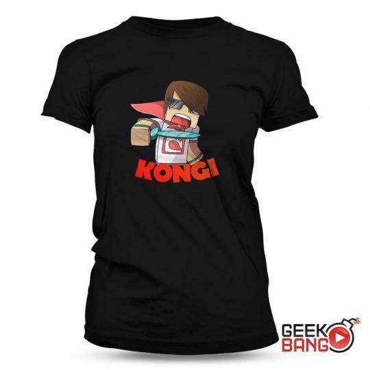 Tričko Kongi - černé, dámské