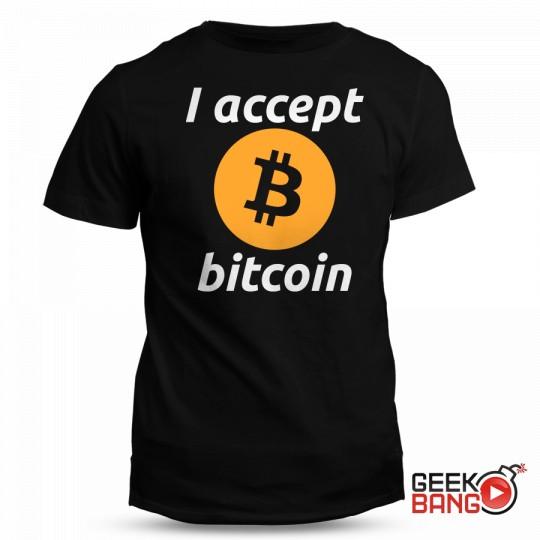 Tričko I accept bitcoin