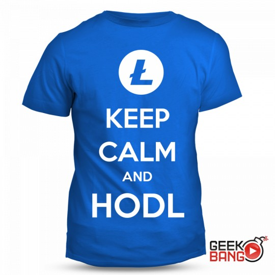 Tričko Keep calm, Litecoin
