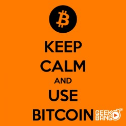 Tričko Keep calm, Bitcoin