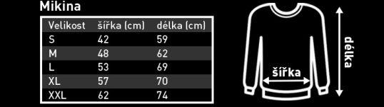 tabulka velikostí mikin